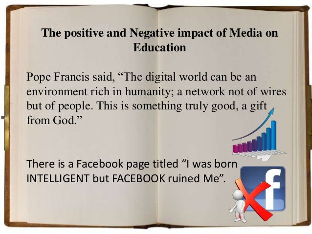 the negative influence of the media on children Media, not including time  impact of media and technology on youth  and negative effects on children's physical and.