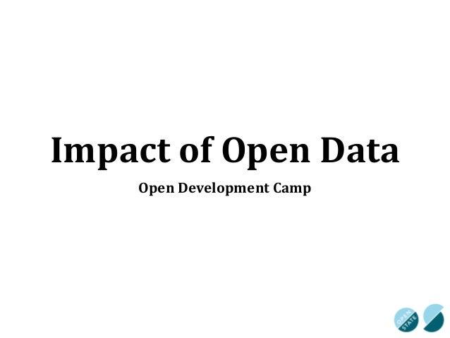Impact of Open Data Initiatives - Arjan El Fassad