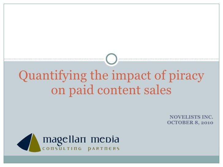 Impact of piracy (Novelists Inc)