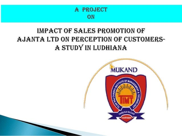 impact of sales promotion on sales Purpose: the aim of this study is to investigate how to effect of product branding  and sales promotion to an organization growth has its performance the.