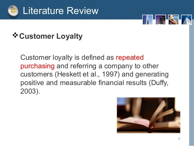 Literature review customer loyalty