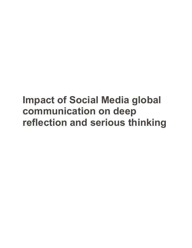 the impact of media on society essays Essay on the impact of mass media on reflector and reinforcer of dominant values and attitudes in society which can have a significant impact on the decisions.