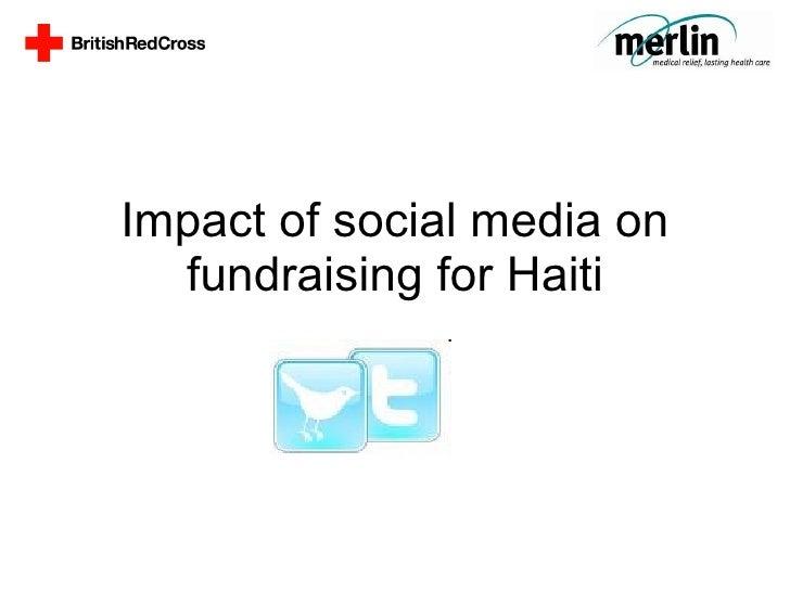 Impact of social media on fundraising for Haiti