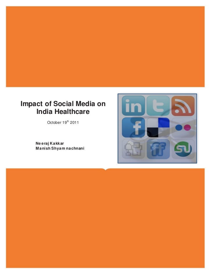 Impact of social media on indian healthcare