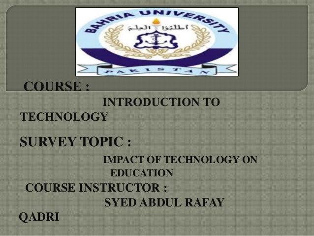 essay on technological impact on education