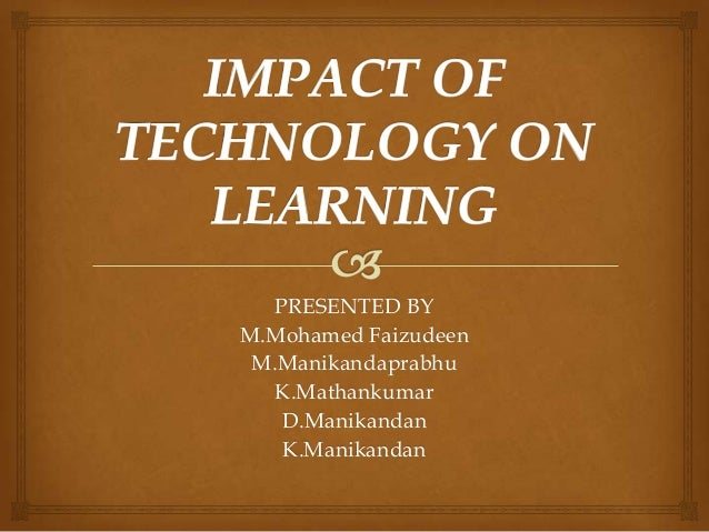 the impact of technology in the evolution of education Abstract preview 1 how does information technology impact on business relationships the need for personal meetings cecilia lindh, ph d.