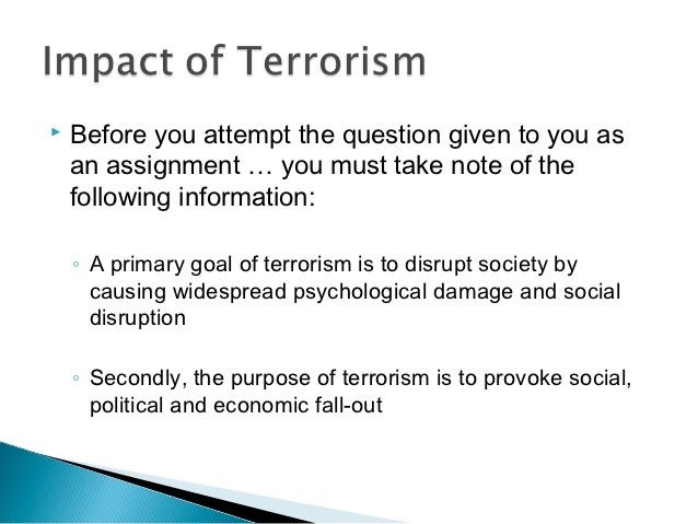 essay on terrorist attack