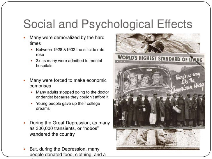great depression thesis statements