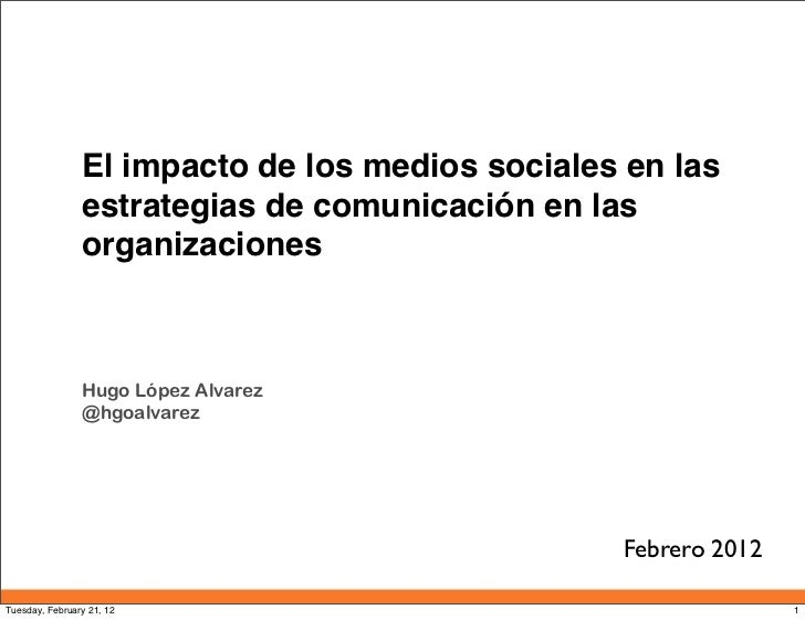 Impacto de los Medios Sociales en las Organizaciones
