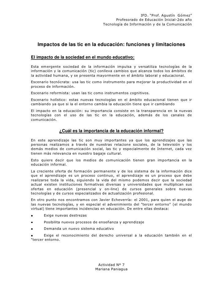 """IFD. """"Prof. Agustín Gómez""""                                             Profesorado de Educación Inicial-2do año           ..."""
