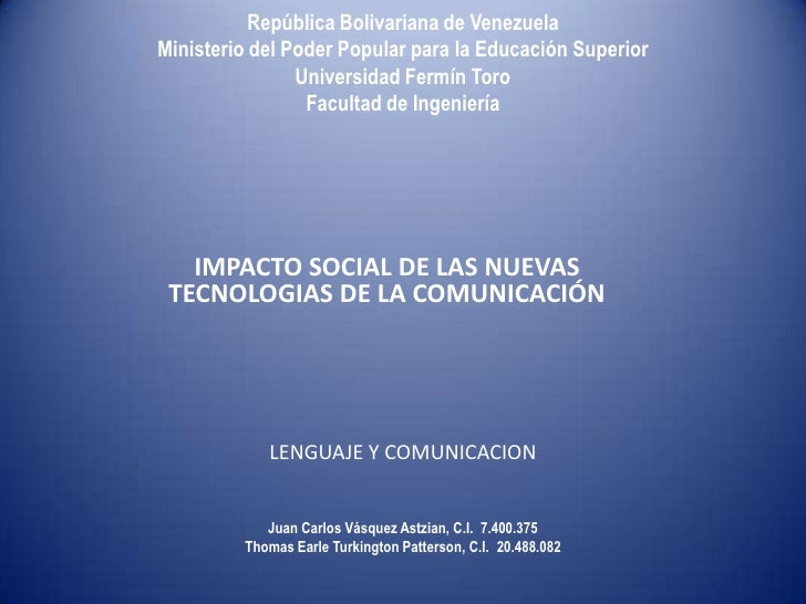 República Bolivariana de VenezuelaMinisterio del Poder Popular para la Educación Superior                Universidad Fermí...