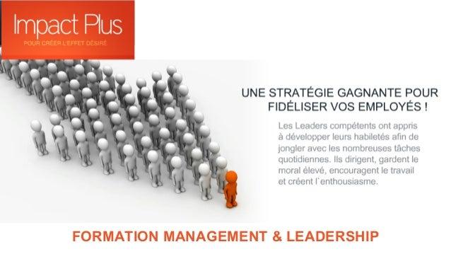 FORMATION MANAGEMENT & LEADERSHIP