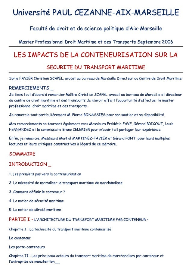 Impacts de la conteneurisation