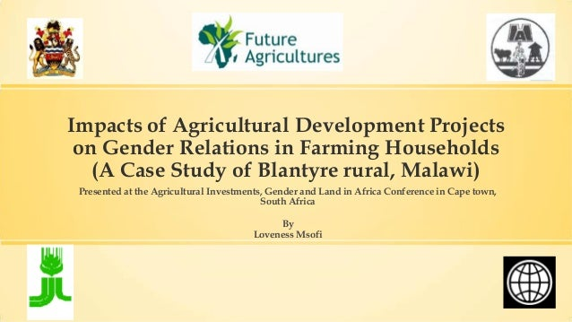 Impacts of agricultural development projects on gender relations in farming households