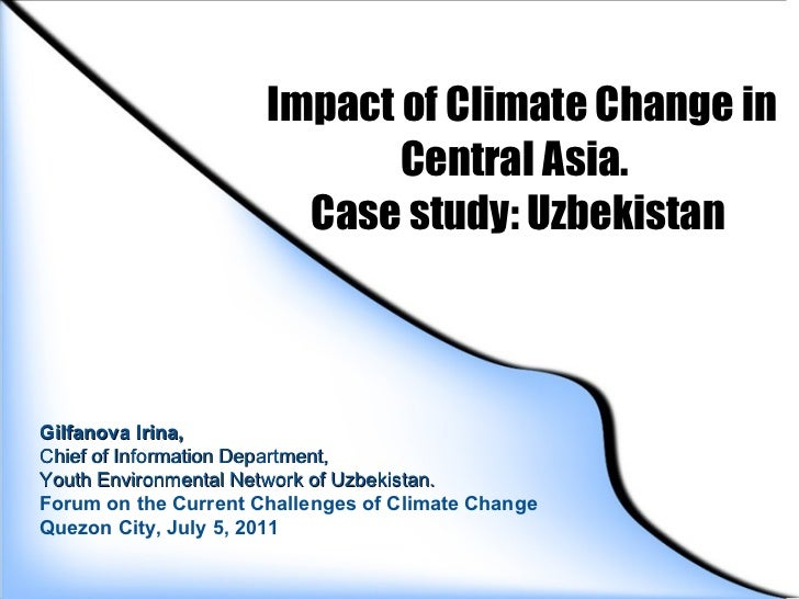 Impacts of cc in central asia (case study   uzbekistan)