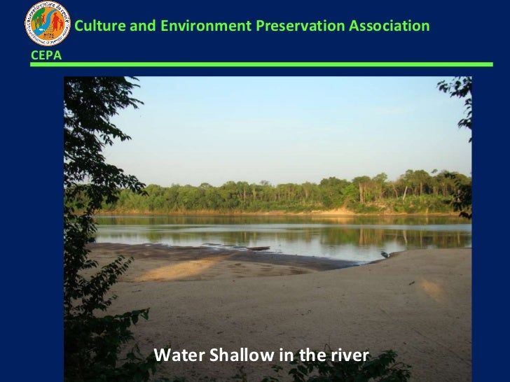 <ul><li>Water Shallow in the river  </li></ul>CEPA Culture and Environment Preservation Association