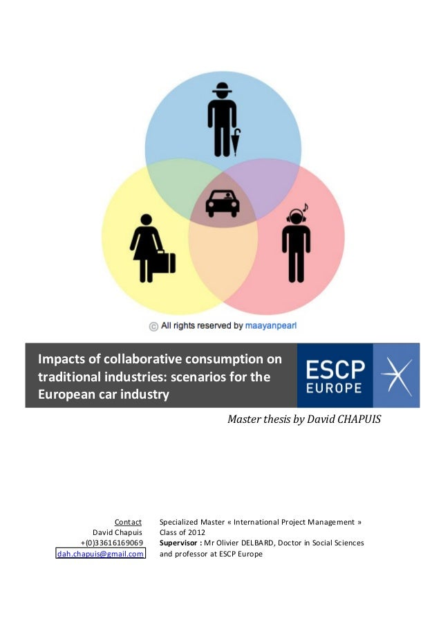 Impacts of collaborative consumption on traditional industries: scenarios for the European car industry