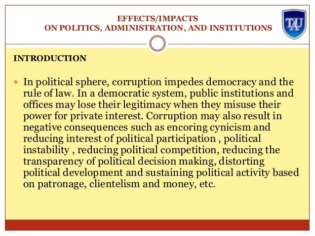 the implications of political corruption for Constitutionalizing corruption: citizens united, its conceptions of political corruption, and the implications for judicial elections campaigns university of san francisco law review, vol 46, p 479, 2012.