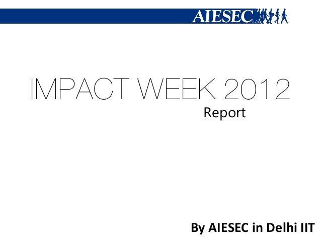 Impact Week 2012
