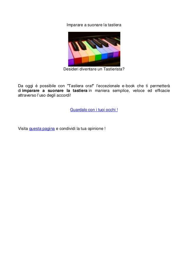 Imparare a suonare la tastiera