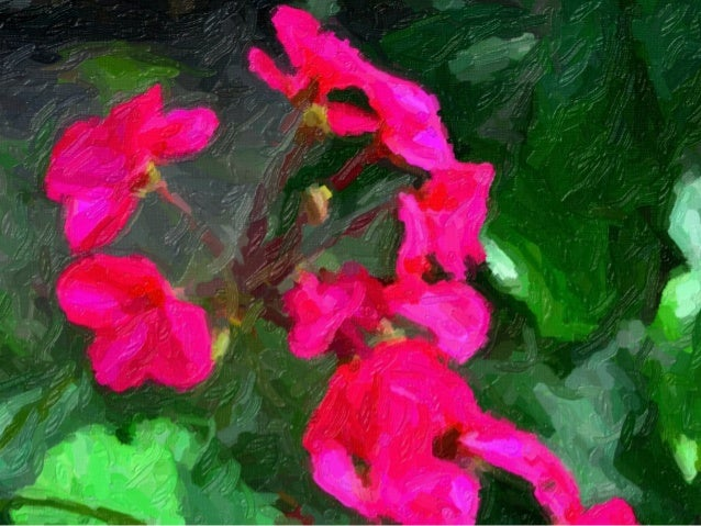 Impasto painting