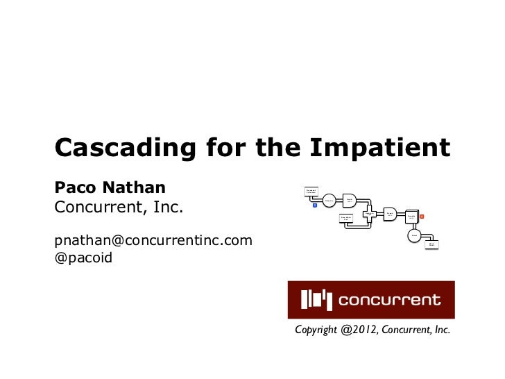 Cascading for the ImpatientPaco Nathan                   Document                              CollectionConcurrent, Inc. ...