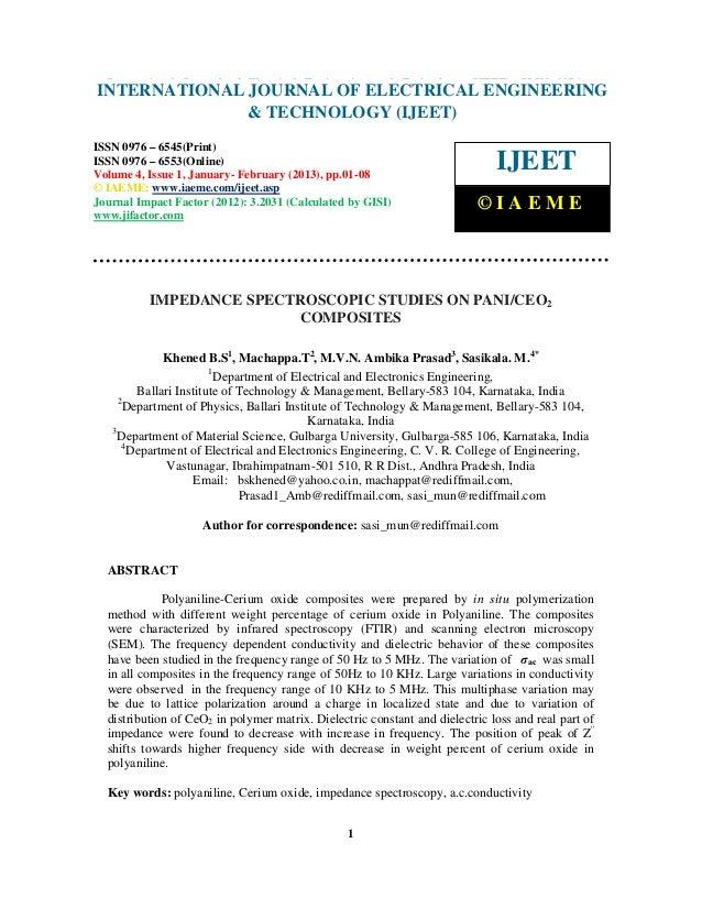 Impedance spectroscopic studies on pani ceo2 composites