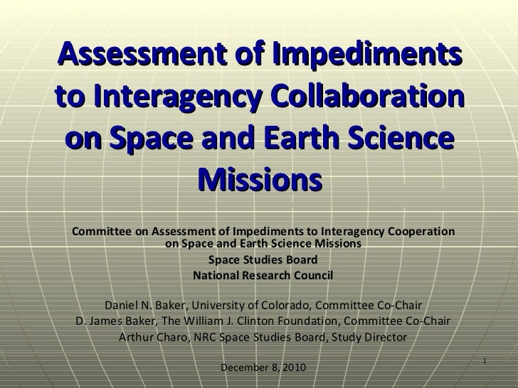 Impediments to Interagency Cooperation on Space and Earth Science Missions
