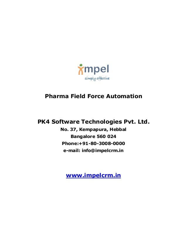 Impel CRM  for Pharma Field Force