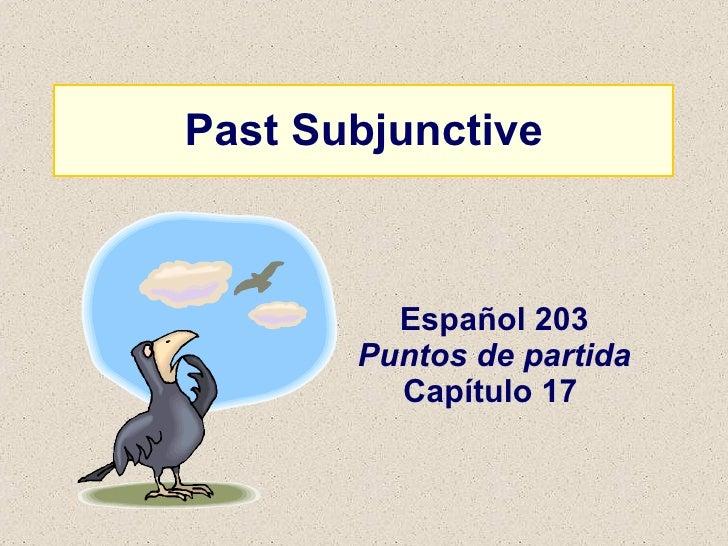 Past Subjunctive Español 203 Puntos de partida Capítulo 17