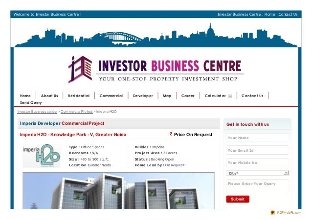 Welcome to Investor Business Centre ! Investor Business Centre : Home | Contact UsImperia Developer Commercial ProjectImpe...
