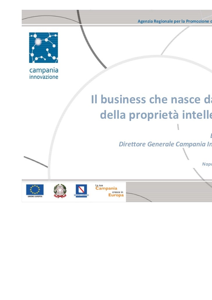 TBIZ 2011 - Campania Innovazione. Il business che nasce dal valore della proprietà intellettuale