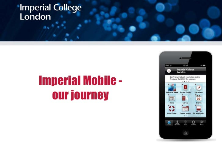 Imperial Mobile -  our journey