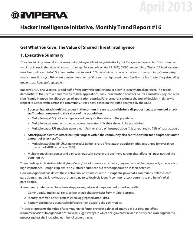 The Value of Shared Threat Intelligence