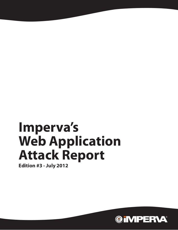 Web Application  Attack Report Edition #3