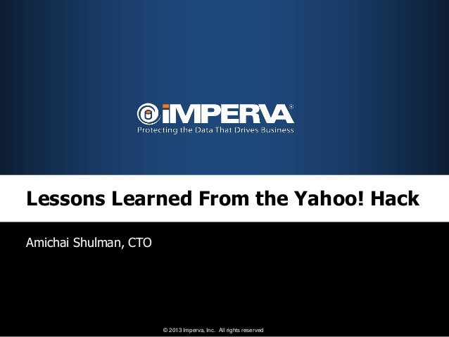 Lessons Learned From the Yahoo! Hack