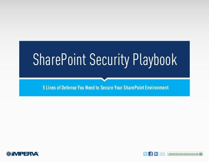SharePoint Security Playbook [eBook]