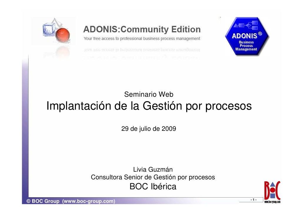 Implantación Gestion de Procesos