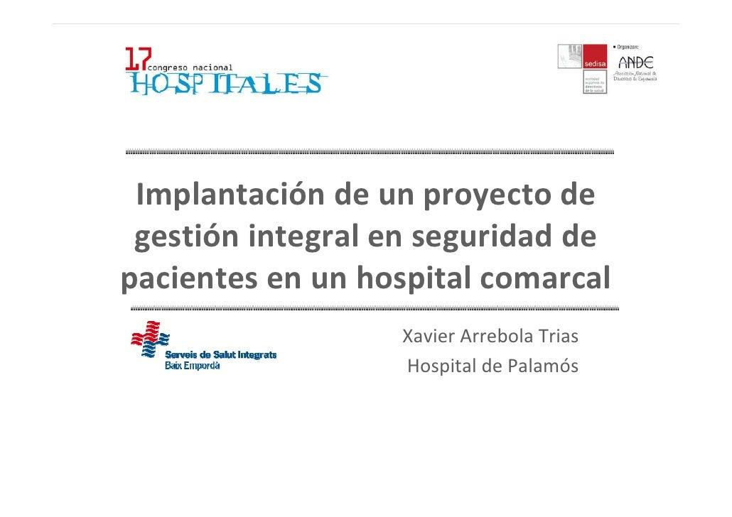 Implantaci n de un proyecto de gesti n integral en - Gestion integral de proyectos ...