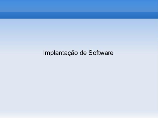 Implantação de Software