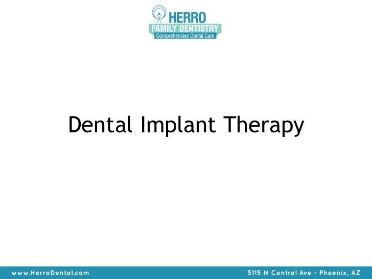 Explaining Implant Therapy