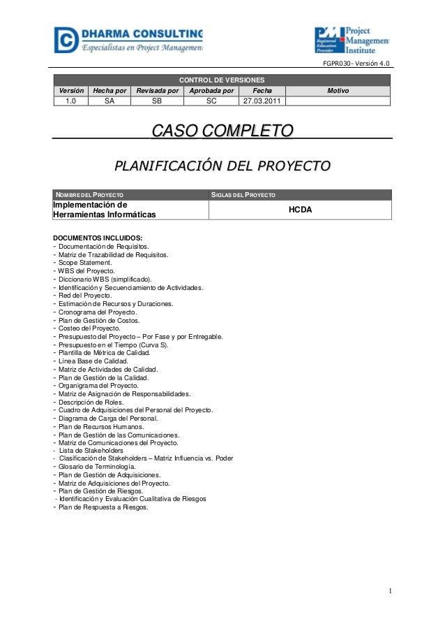 Implementación de Herramientas Informáticas - Planificación