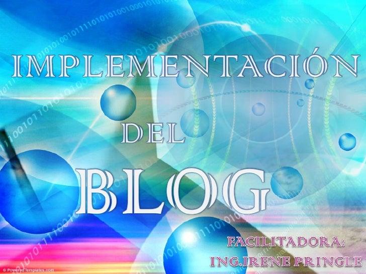 Implementación del blog