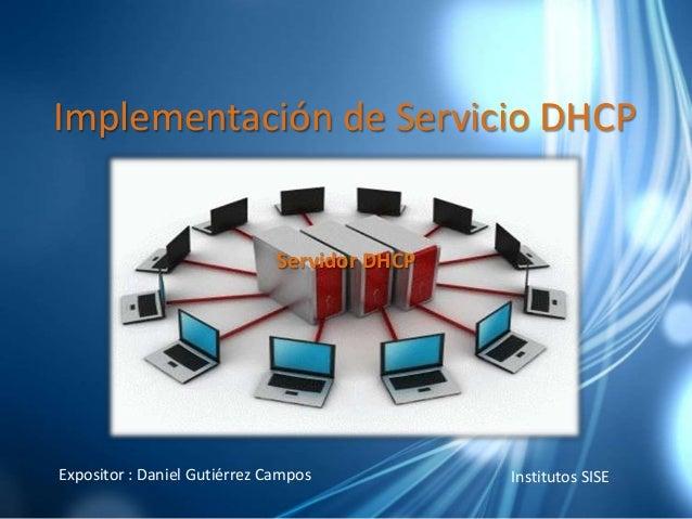Implementación de servicio dhcp