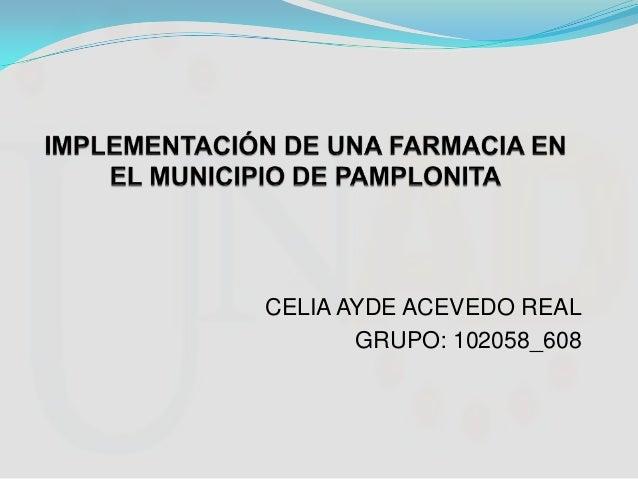 Implementación de una farmacia en el municipio de Pamplonita