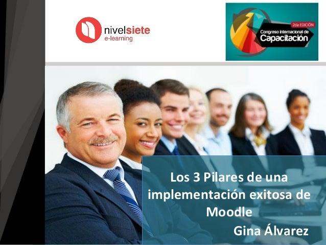 Gina Álvarez Los 3 Pilares de una implementación exitosa de Moodle