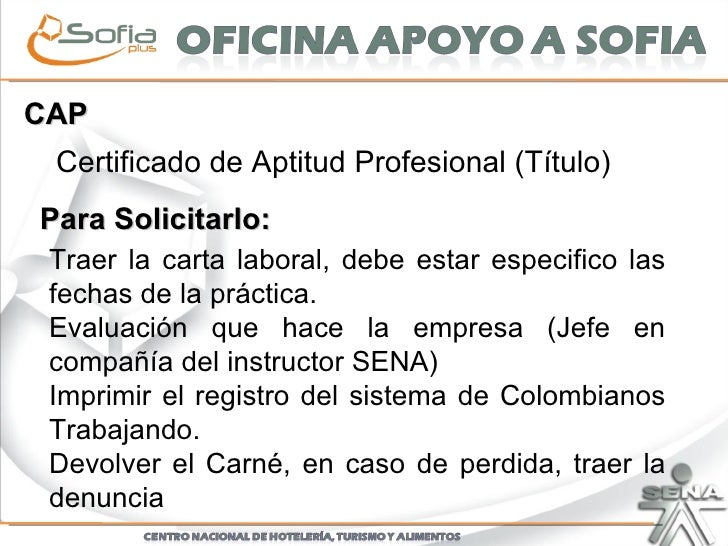 Certificado Aptitud Profesional Cap Certificado de Aptitud