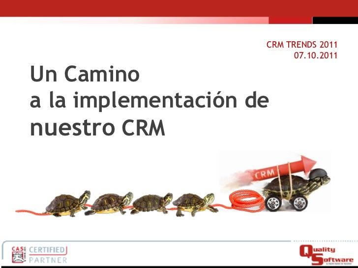 Implementando CRM al interior de la empresas!