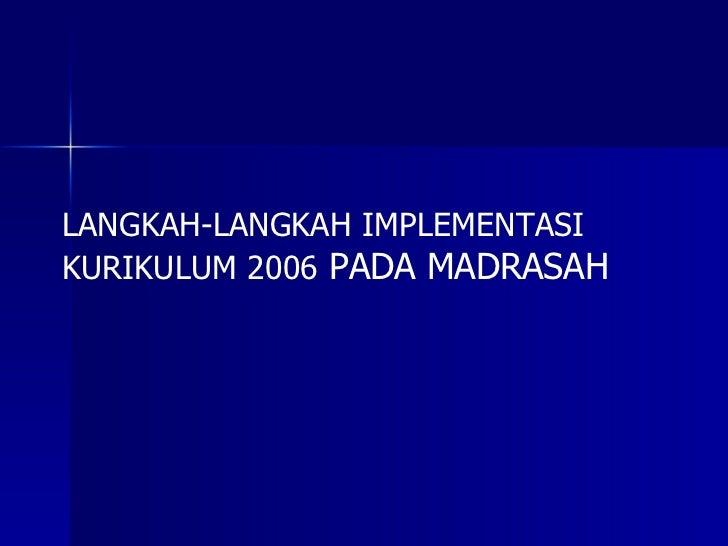 Implementasi Ktsp Pd Madrasah