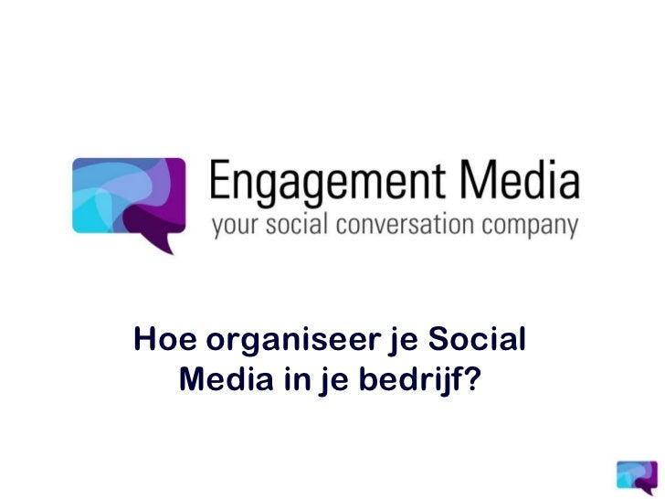 Social Media implementeren in je organisatie